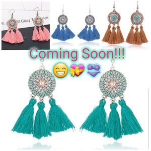 New tassel earrings! Popping summer colors!